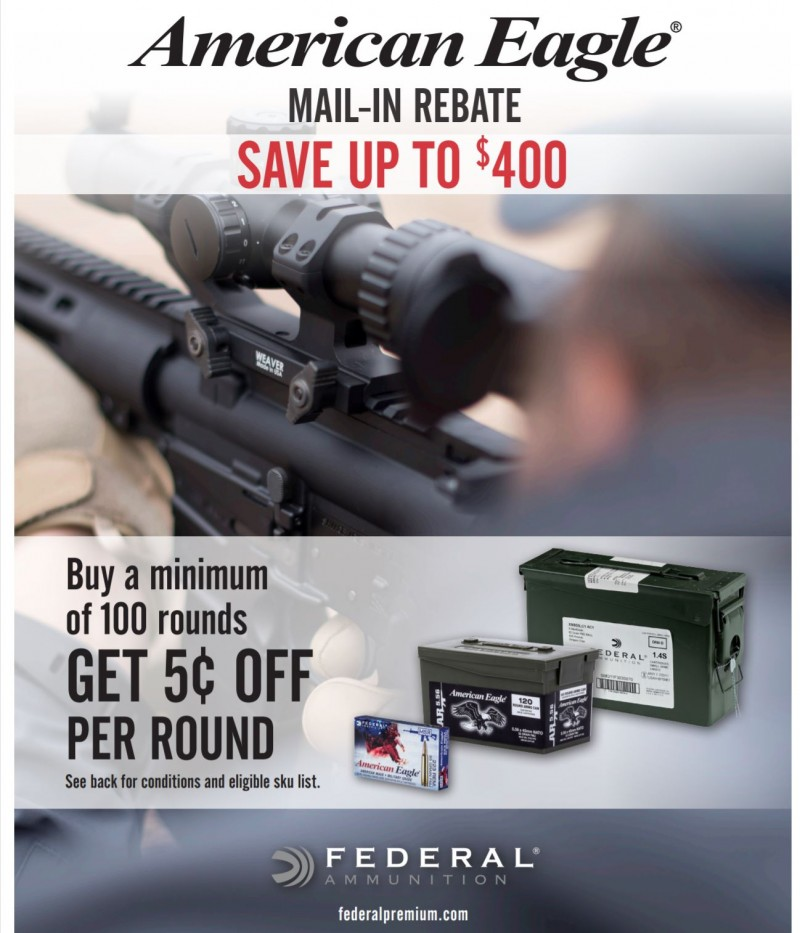 American Eagle Rebate >> Save 5 Cents Per Round On American Eagle Ammunition In 223