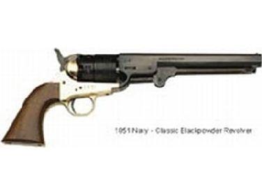 traditions 1851 navy black powder revolver blued 44 caliber 7 5