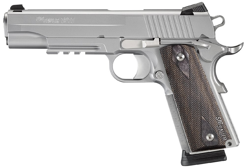 Sig Sauer Stainless 1911 45ACP 5 Inch 8Rd with Wood Grips