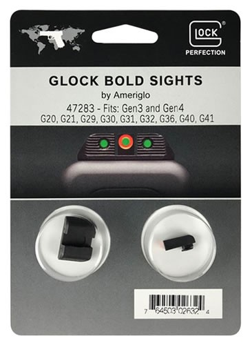 GLOCK PARTS NIGHT SIGHT SET AMERIGLO BOLD GREEN DOTS  165