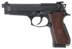 "Beretta 92FS Victory 9mm Luger Semi Auto Pistol 4.9"" Barrel 17 Rounds Target Sights Wood Grips Blued Finish"