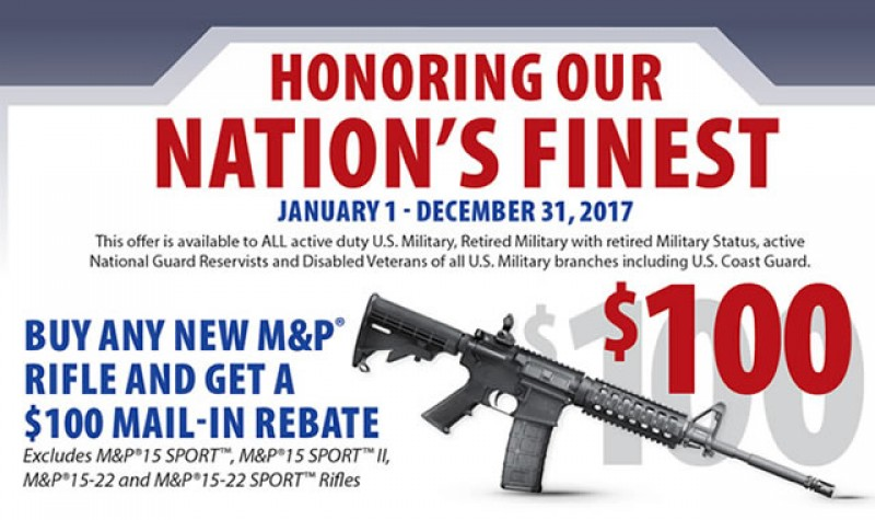 Smith & Wesson Promotion: Nations Finest Rifle Rebate EXPIRES DEC 31, 2017