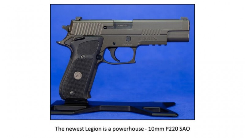 10mm Gets Sophisticated… New SIG Legion P220 SAO