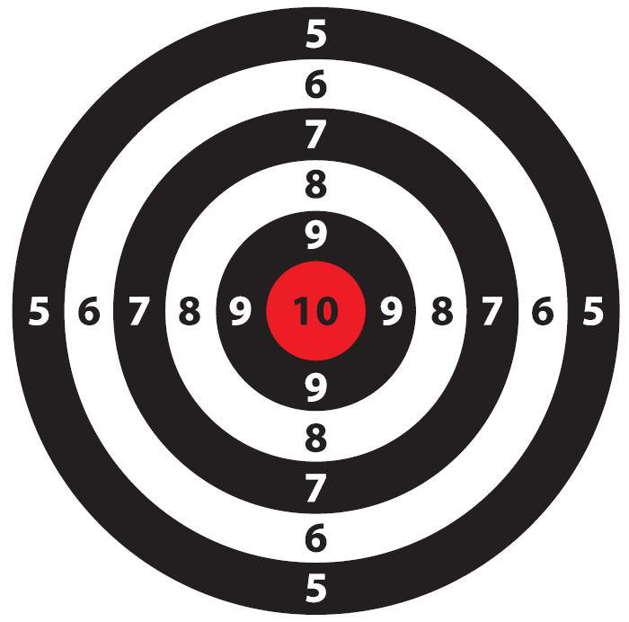 It is an image of Astounding Shoot Target Print