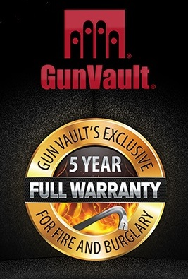 GunVault Five-Year Warranty
