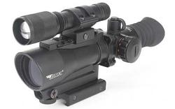 BSA Optics Tactical 30mm Red Dot w/ 650nm Red Laser, One-Piece Mount w/ 140 Lumen LED Flashlight TW30RDLL