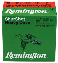 Remington Heavy Dove Loads 12GA 2.75-inch 1-1/8oz #7.5 Shot 25rds
