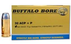 Buffalo Bore Ammunition 30A/20 32ACP 75G HRD CAST FN 20rds