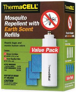 ThermaCell Mosquito Repellent Replacement Mats and Butane Cartridges - Yellow