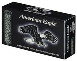 Federal American Eagle Suppresor 9mm Subsonic 124GR FMJ 50Rds