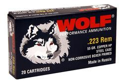 Wolf Performance Ammo  .223 Rem 55GR HP 500Rd Case