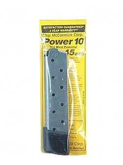 Chip McCormick Power Magazine 10rd .45ACP SS