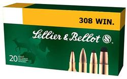 Sellier and Bellot .308 Win 147GR FMJ 20rds