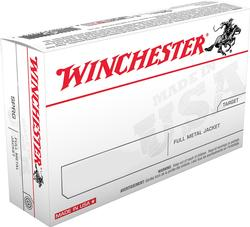 Winchester Ammunition FMJ 124 Grain Brass 9mm 50Rds