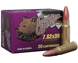 BEAR AMMUNITION GOLDEN 7.62X39 HP 123GR 500RDS/CASE