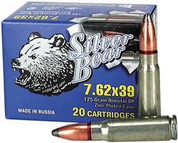 BEAR SILVER 7.62X39 SP 123GR 500RDS/CASE