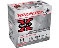"Winchester, 12 Gauge, 2 3/4"", 1 1/8 oz., Super-X Heavy Game Field Shotshells, 25 Rounds"