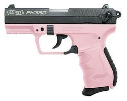 Walther PK380 Double-Action Compact Black / Pink .380 ACP 3.6-inch 8rd