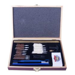 Gunmaster UGC 56W Universal Select Cleaning Kit 22 Caliber and Larger, Wooden Case, 30 Piece