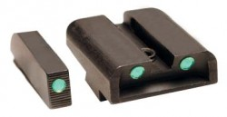 Ameriglo CAP Tritium Sight Set For Glock 43 Green Front With Lumi-Lime Square Outline Green Lumi-Lime Rear Horizontal Line