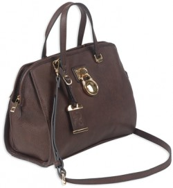 Bulldog Cases Satchel Series Concealed Carry Purse Chocolate Brown