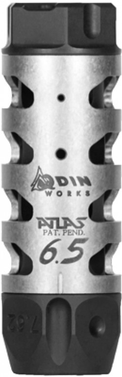 Odin Works Atlas Compensator Black / Stainless 6.5mm / 6mm 3-inch