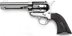 "Ifc 1873 Single Action Revolver 357 Mag 4.75"" Barrel Nickel Plated Frame Black Checkered Grips"