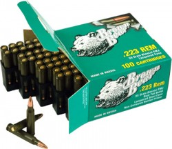 Brown Bear .223 Remington 55 Grain Full Metal Jacket Ammunition, 800 Round Case Md: AB223100