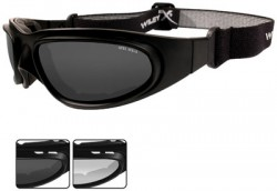 Wiley X SG-1 Goggle - 2 Lens Package, 1 Matte Black Frame w/Smoke Grey,Clear Lens, 70 V-Cut