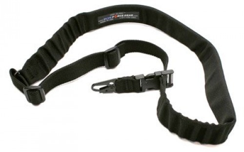 Blue Force Gear UDC Padded Bungee Single Point Sling w/Sling Snap Hook Adapter, Black, UDC-200-BG-HK-BK