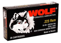 Wolf Performance Ammo MC22355HP .223 Rem 55GR HP 500Rds