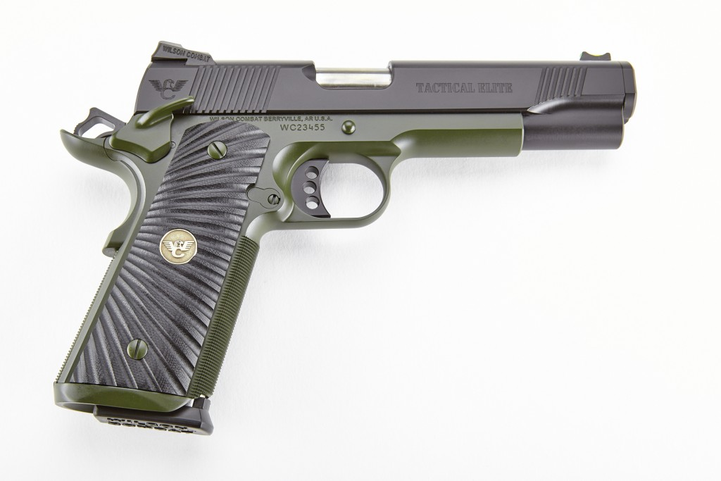Wilson Combat Tactical Elite, Full-Size, .45 ACP, Black/Green