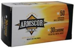 Armscor 30M1 FMJ 110 Grain Brass .30 Carbine