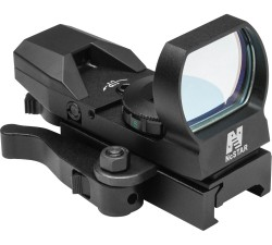 NcStar 4-Reticle Reflex Black Sight w/ QR Mount, Red-Colored Reticle Set 194621