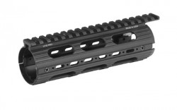 Leapers UTG PRO AR15 Car Length Super Slim Drop-in Handguard Rail Extended to Upper-Black, MTU001SS