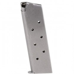 Metalform 1911 Officers Magazine 10mm 7 Rounds Stainless Steel