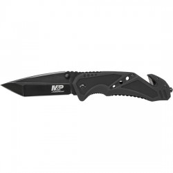 "Smith & Wesson Military & Police Liner Lock Folding Knife, 3.79"" Blade"
