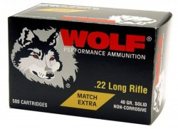 Wolf Performance Ammo Match Extra Brass .22 LR 5000Rds