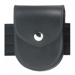 Safariland Model 90 1 Snap Handcuff Pouch Top Flap Plain Black Brass Molded