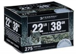 Federal Field Pack .22LR CPHP 38 Grain 275 Rounds
