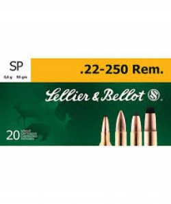 Sellier and Bellot 22-250 55GR SP 20 ROUNDS