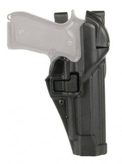 Blackhawk SERPA Level 3 ALS Duty Holster, Right Hand, Black, Matte - For Glock 20/21/37/38 and M&P .45, 44H113BK-R