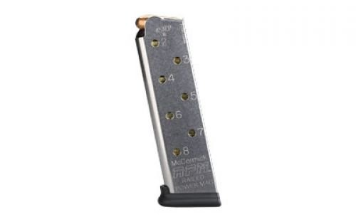 Chip McCormick Railed Power Mag Stainless .45ACP 8rd