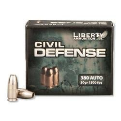 Liberty Civil Defense .380ACP 50GR HP 20Rds