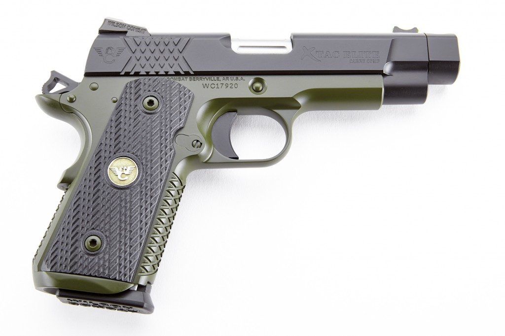 Wilson Combat X-Tac Elite Carry Comp, Compact, 9mm, Black/Green