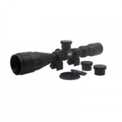 BSA Optics Sweet 243 3-9x40 AO Riflescope, .243, 2 Dovetail Rings, Black, 243-39X40AOWRTB
