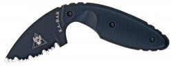 Ka-Bar TDI Law Enforcement Knife, Black, Hard Sheath