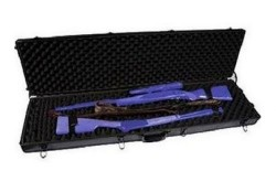 Sportlock AluminumLock Double Rifle Case, Black w/Wheels, Tie Downs & Foam 00010