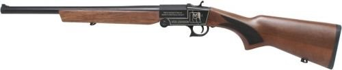 "Iver Johnson IJ700 Youth Single Shot Break Action Shotgun 20 Gauge 18.5"" Barrel 1 Round 3"" Chambers Walnut Stock Black Finish"