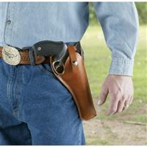 Hunter Crossdraw Leather Holster - Fits medium to large frame double-action revolvers